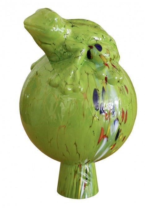 """Glas-Rosenkugel """"Froschkönig"""""""
