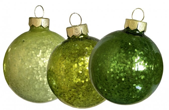 """Glas-Weihnachtskugeln mit LED-Beleuchtung """"grün"""""""