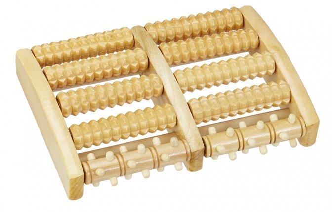 Fuß-Massageroller aus Holz