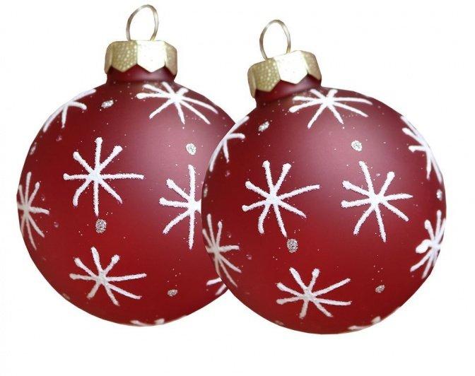 Glas-Weihnachtskugeln mit LED-Beleuchtung