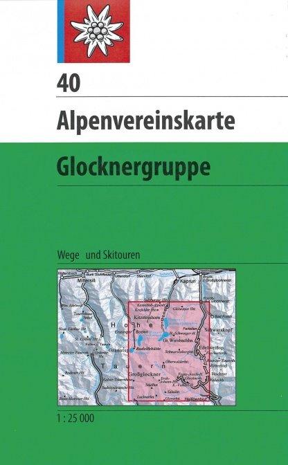 Alpenvereinskarte 40, Glocknergruppe 1:25.000