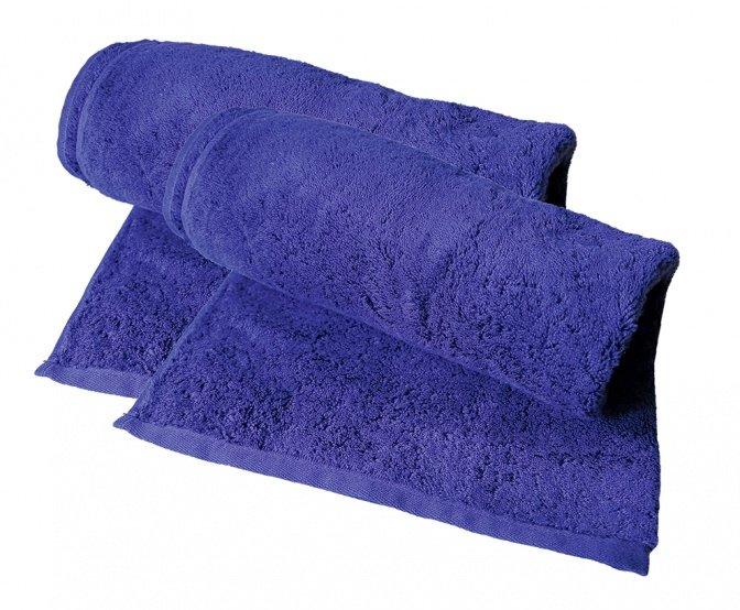 Flauschiges Duschtuch, 2er-Set, blau