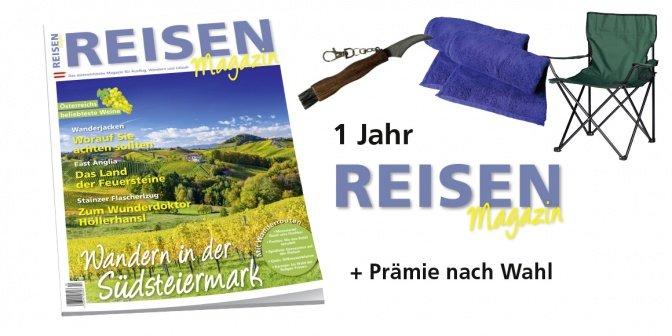 1 Jahr Abo Reisen-Magazin